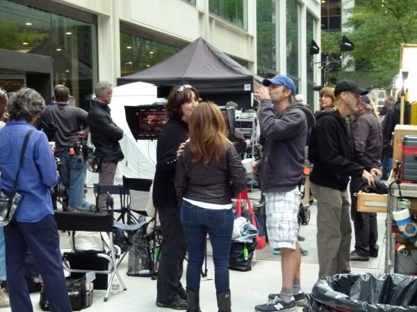 """Dreharbeiten für """"The Intern"""" auf der Water Street."""