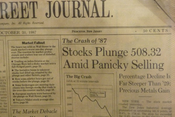 Wall Street Journal vom Crash