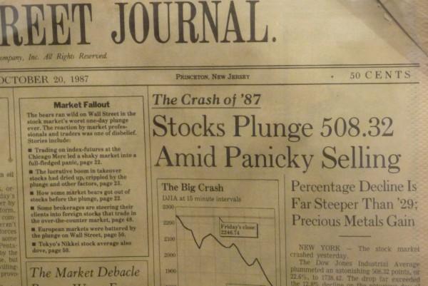 Wall Street Journal vom Crash