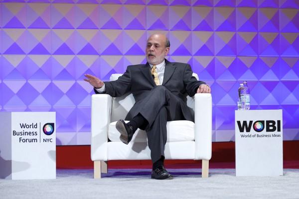 Ben Bernanke auf der Wobi-Konferenz in New York. Der ehemalige Leiter der Fed blickt zuversichtlich nach vorne. Er sieht die USA als Wachstumslokomotive in der Welt.