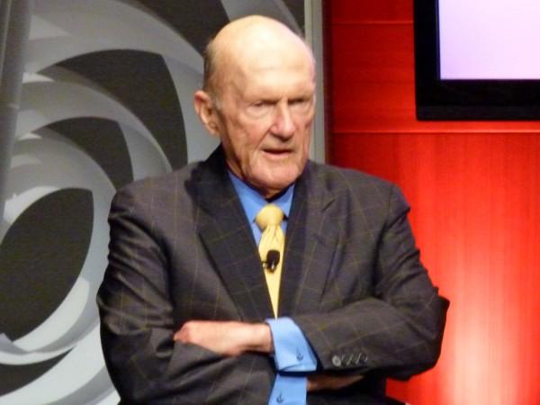 Hedgefonds-Pionier Julian Robertson. Er baute aus einer Idee ein Milliardenimperium, aus vielen Fonds bestehen, auf. Er nennt sie Tiger Fonds. Das Foto machte ich auf einer Bloomberg-Konferenz in NYC.