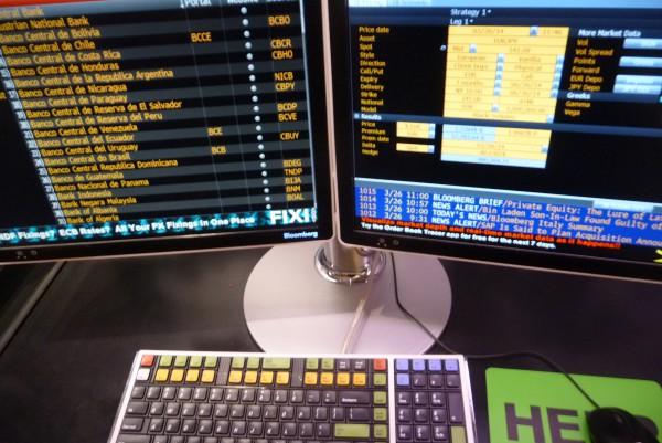 Ein Bloomberg Terminal: Hier hüpfen die Kurse im Sekundentakt.