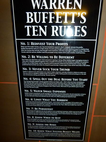 "Warren Buffetts ""Zehn Regeln für den Erfolg"""