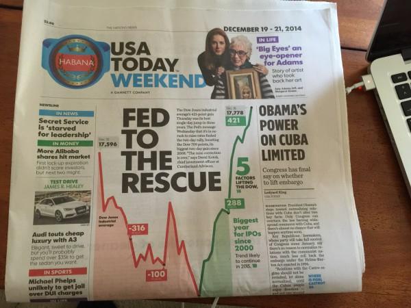 Auf der Titelseite eines Tageszeitung wird die Kursrallye gefeiert. Der größte Zweitagesgewinn seit 2008. Der Größte Eintagesgewinn seit in drei Jahren. Die Mini-Korrektur ist vorüber etc.