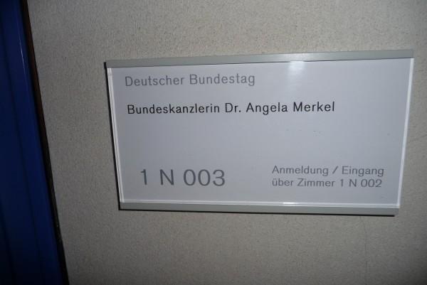 Das Büro von Angela Merkel im Berliner Bundestag