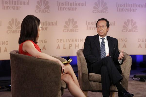 Hedgefonds-Lenker John Paulson: Sein großes Vorbild ist Warren Buffett. Foto: CNBC, Delivering Alpha-Conference in New York.