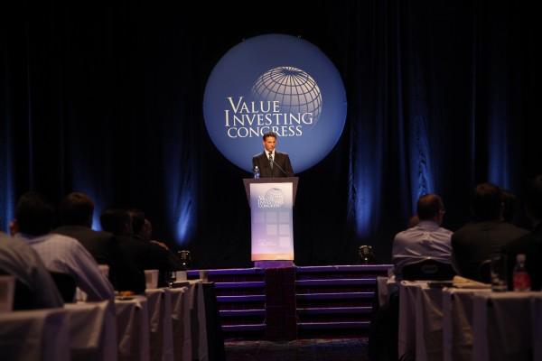 Hedgefondsstar David Einhorn auf dem Value Investor Congress in New York