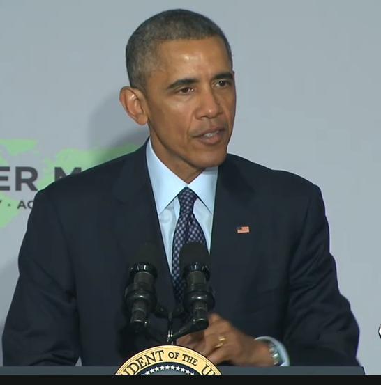 Barack Obama in einer Rede.