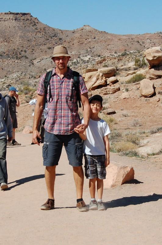 Vater und Sohn: Der Blogger