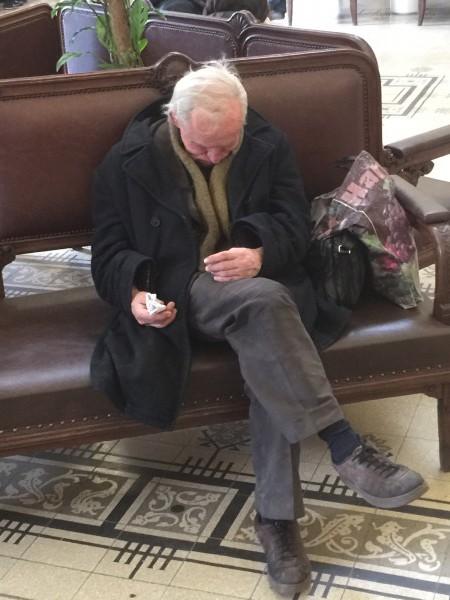 Ein armer Rentner.