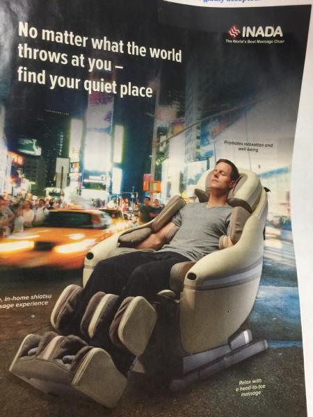 Haben Sie ausreichend vorgesorgt, ist das Leben viel entspannter. Sie fühlen sich so, als ob Sie in diesem Massagesessel sitzen würdne. Ich sitze oft am Flughafen in diesen. Es gibt ein Geschäft, in dem können Sie Probesitzen. Ich bleibe als eine halbe Stunde in ihnen sitzen.