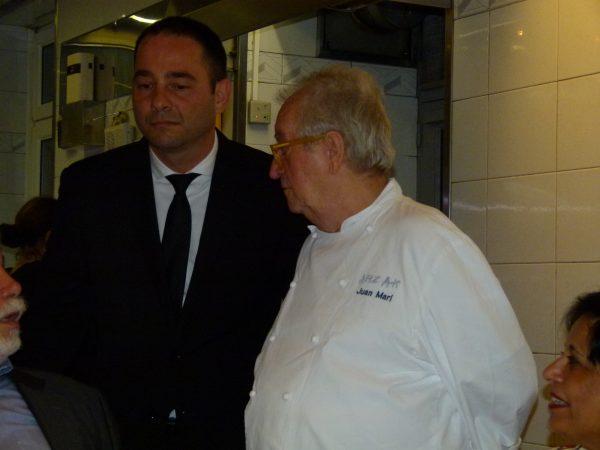Der prominente Senior-Edelkoch Juan Mari Arzak war ebenfalls anwesend.