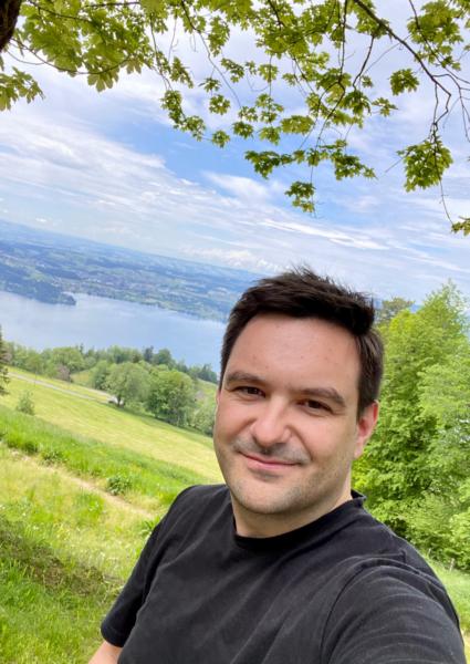 Christian am Zugersee in der Schweiz